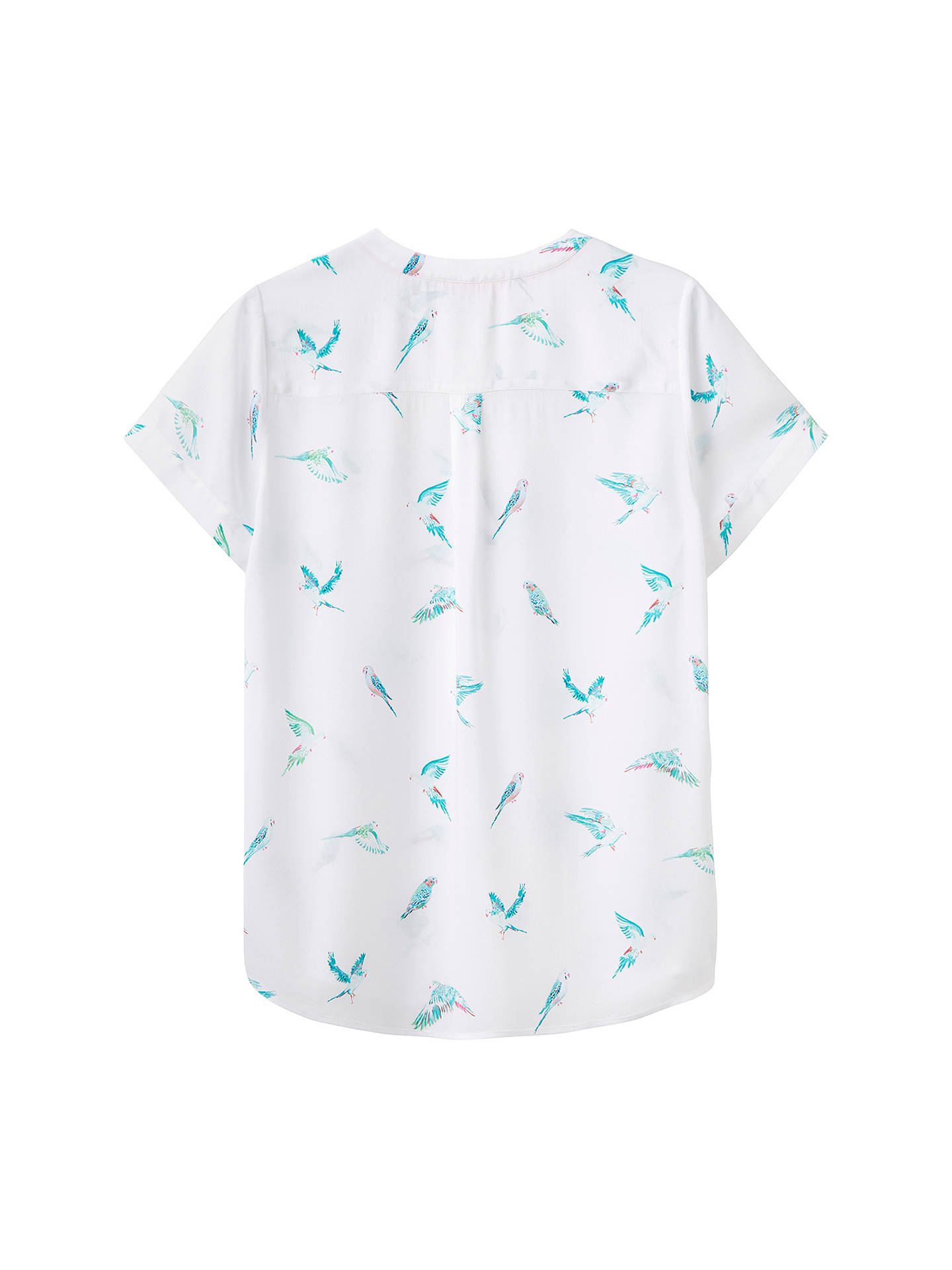 2bc4a5acbb76be ... Buy Joules Iona Printed Top, White Parakeets, 8 Online at johnlewis.com  ...