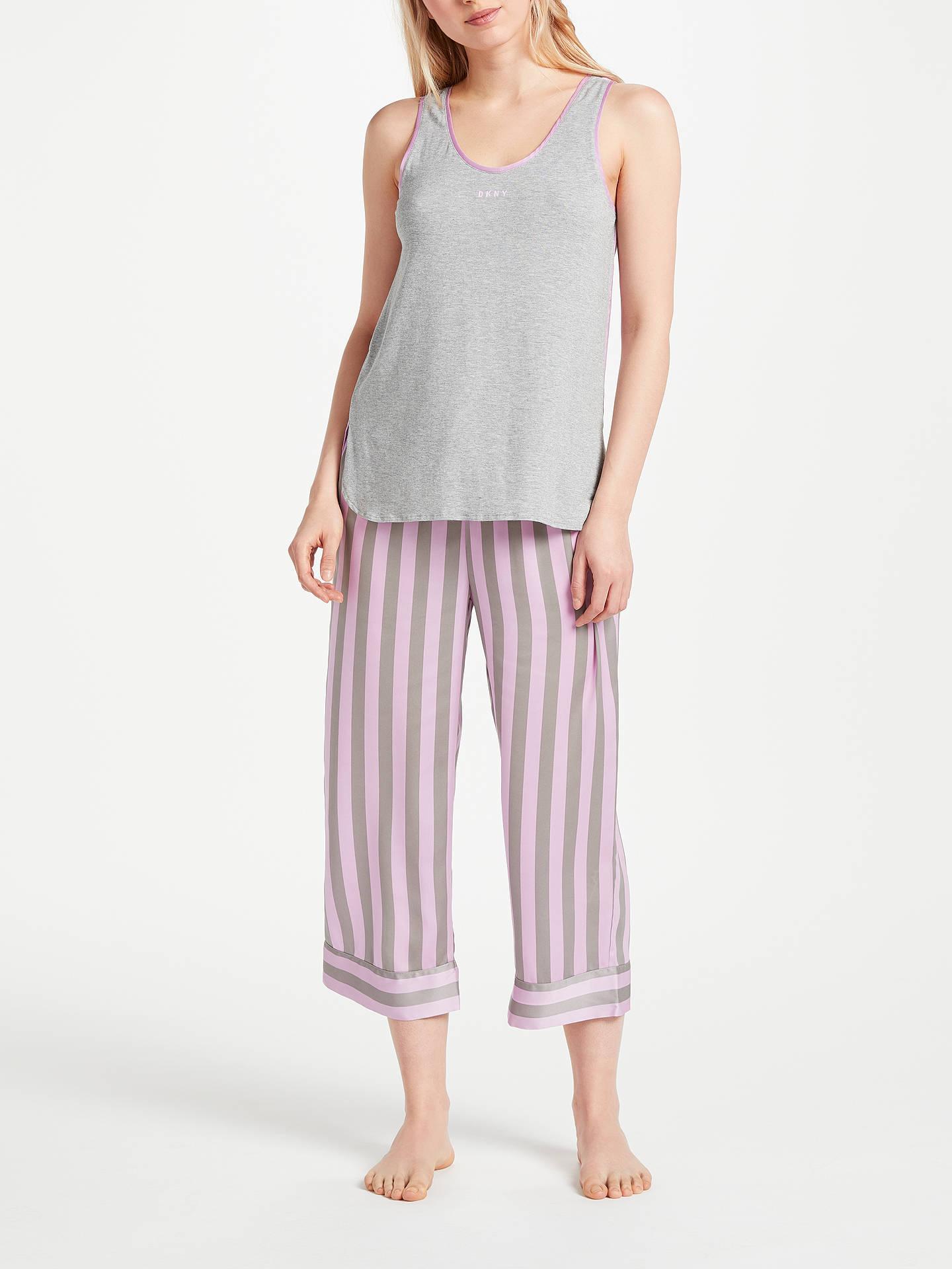 BuyDKNY Walk the Line Tank Top And Crop Trousers Pyjama Set 7d4e82859