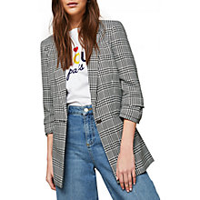 Buy Miss Selfridge Ruched Sleeve Blazer, Mono Online at johnlewis.com