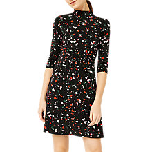 Buy Warehouse Barbican Granite Pattern Dress, Black/Multi Online at johnlewis.com