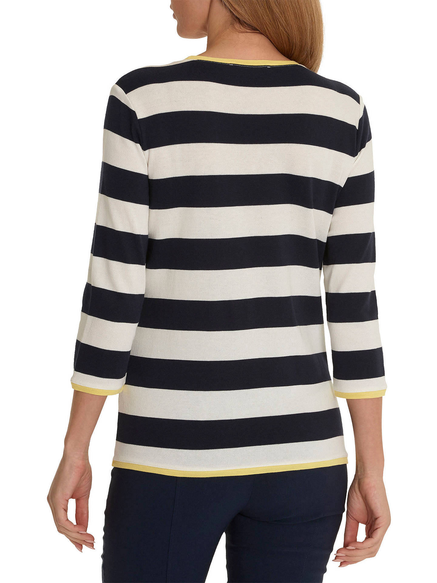 BuyBetty Barclay Striped Jumper, Cream/Dark Blue, 10 Online at johnlewis.com