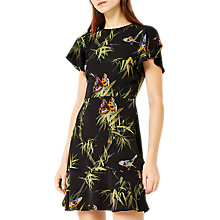 Buy Warehouse Barbican Songbird Skater Dress, Black/Multi Online at johnlewis.com