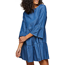 Buy Miss Selfridge Denim Smock Dress, Blue Online at johnlewis.com