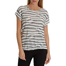 Buy Betty Barclay Fine Knit Stripe Top, Dark Blue/Cream Online at johnlewis.com