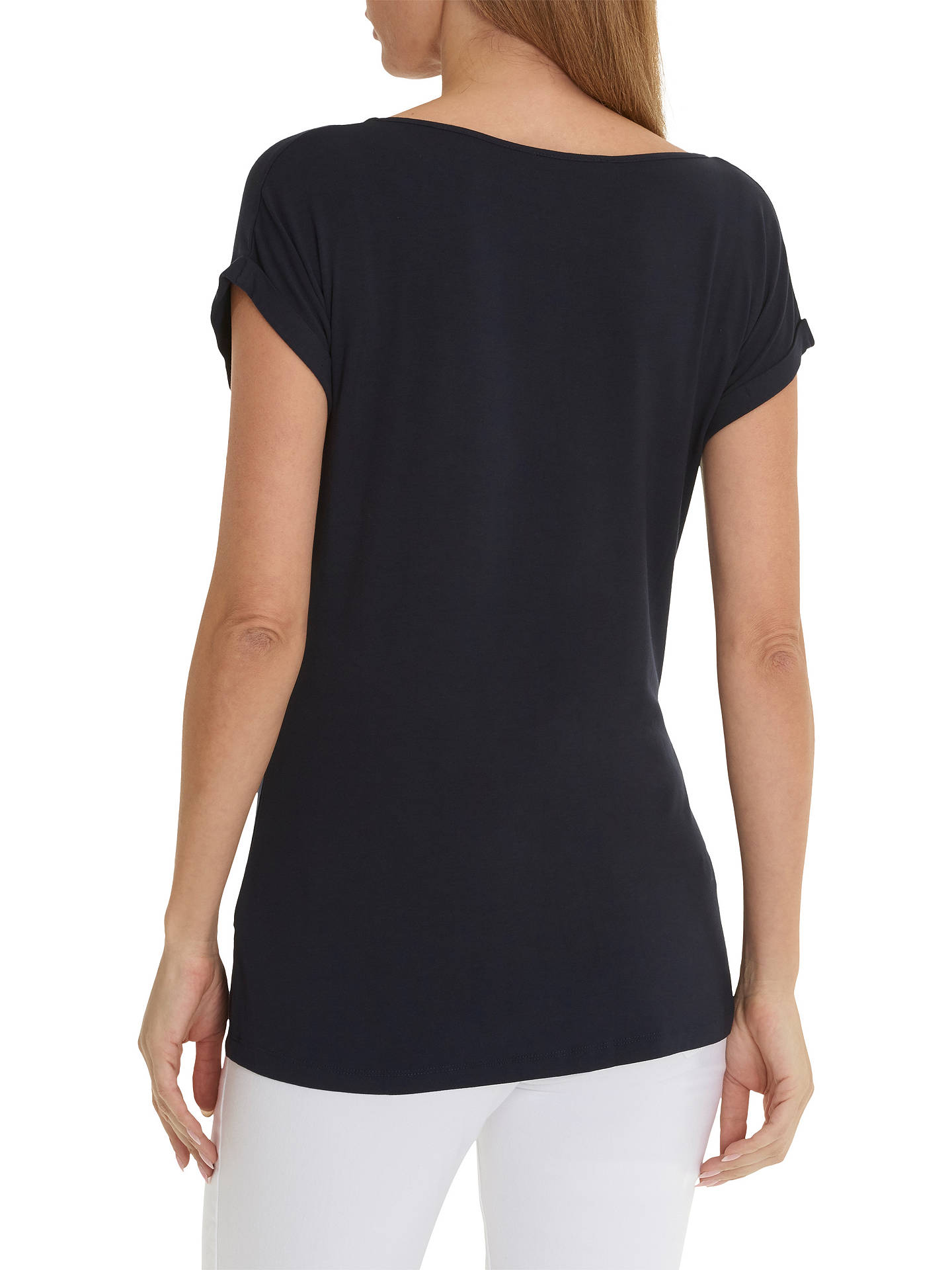 BuyBetty Barclay Cap Sleeve T-Shirt, Dark Sky Blue, 12 Online at johnlewis.com