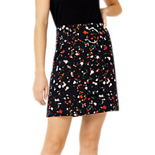 Buy Warehouse Barbican Granite Pattern Pelmet Skirt, Black/Multi Online at johnlewis.com