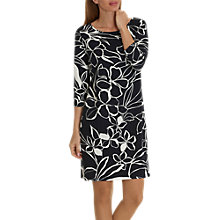 Buy Betty Barclay Floral Print Jersey Dress, Black/Multi Online at johnlewis.com