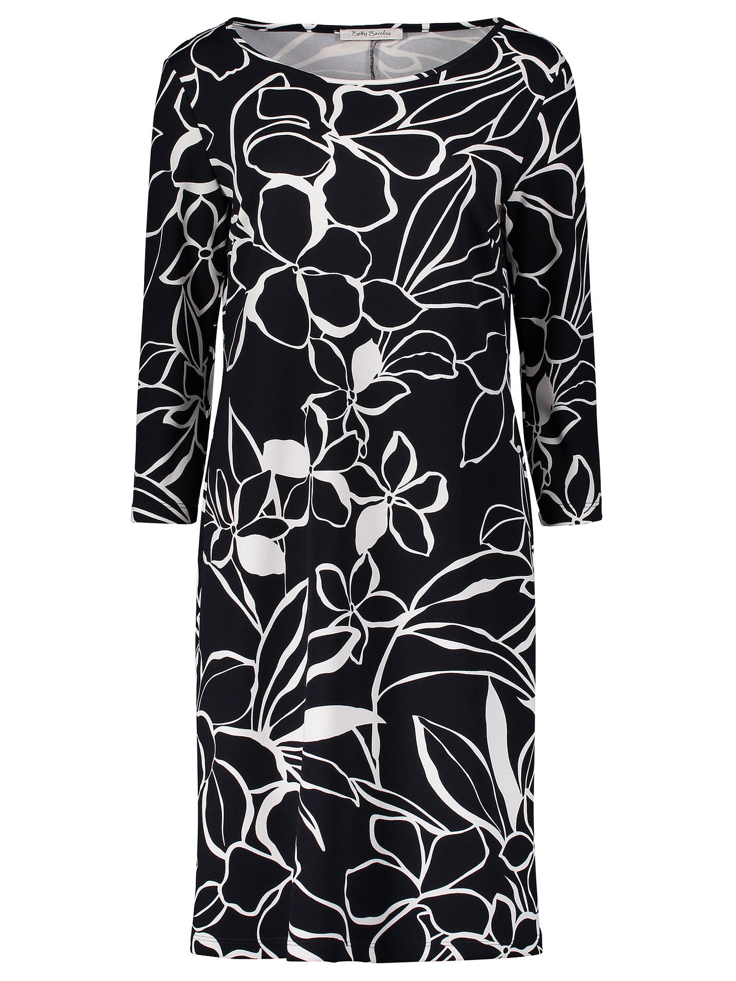 Buy Betty Barclay Floral Print Jersey Dress, Black/Multi, 10 Online at johnlewis.com