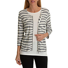 Buy Betty Barclay Fine Knit Striped Cardigan, Dark Blue/Cream Online at johnlewis.com