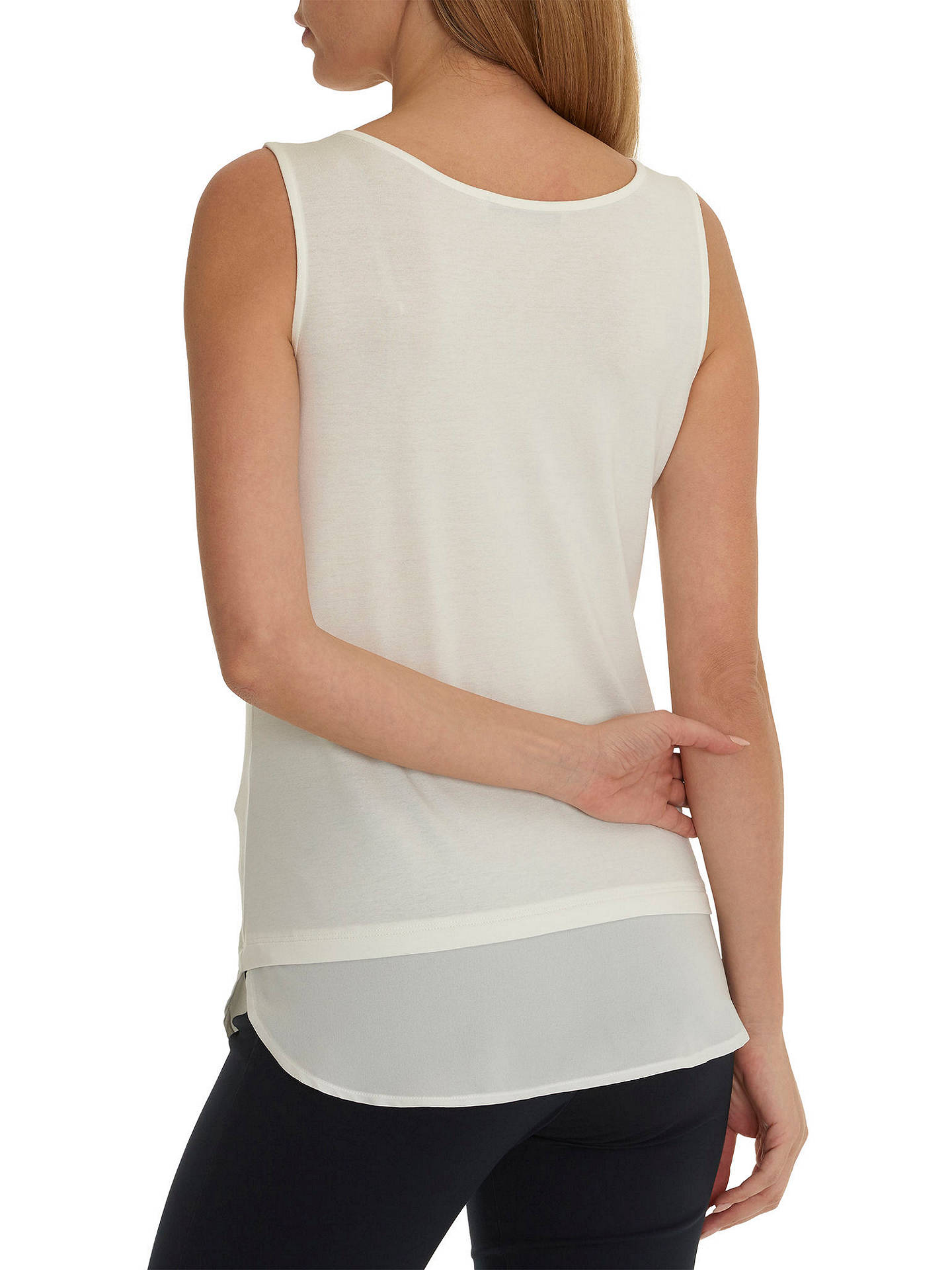 BuyBetty Barclay Layered Vest Top, Off White, 10 Online at johnlewis.com