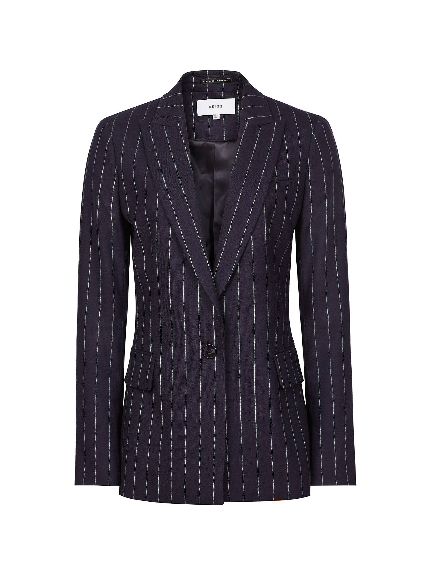 BuyReiss Piper Tailored Pinstriped Jacket, Navy, 6 Online at johnlewis.com