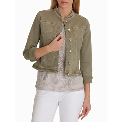 Betty Barclay Denim Jacket, Oak Green