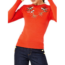 Buy Warehouse Barbican Songbird Jumper, Orange Online at johnlewis.com