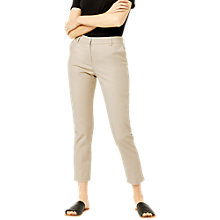 Buy Warehouse Compact Trousers, Stone Online at johnlewis.com