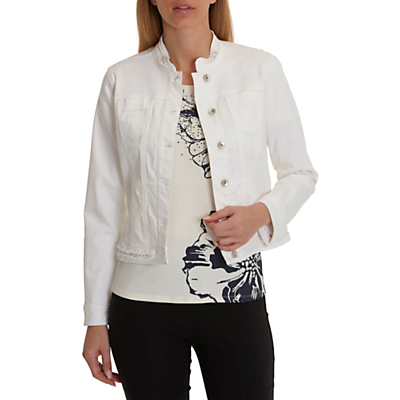 Betty Barclay Denim Jacket, White Denim