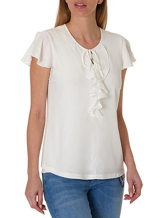 Buy Betty Barclay Ruffle Top, Off White, 10 Online at johnlewis.com