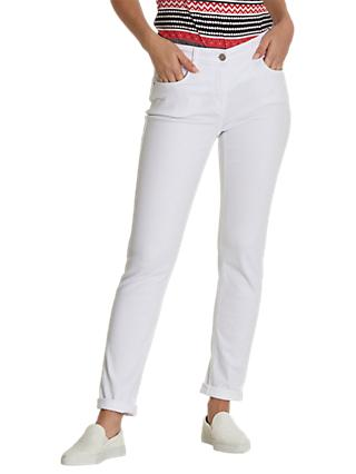Betty Barclay Denim Perfect Slim Jeans, White Denim