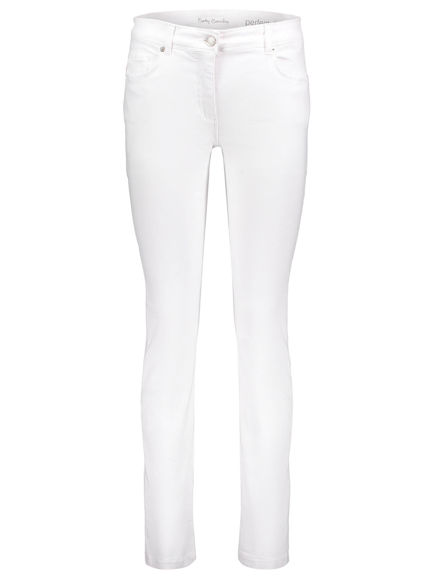 BuyBetty Barclay Denim Perfect Slim Jeans, White Denim, 16 Online at johnlewis.com