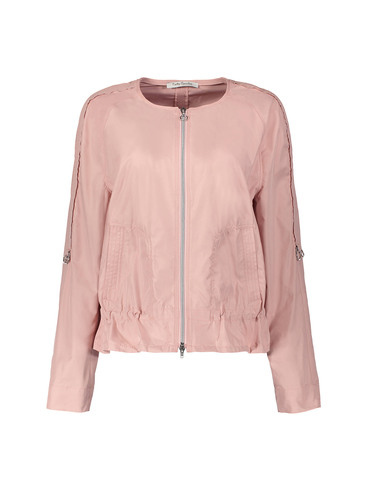 Buy Betty Barclay Two-Way Zip Jacket, Powder Rose, 10 Online at johnlewis.com