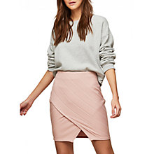 Buy Miss Selfridge Bandage Wrap Mini Skirt, Powder Blush Online at johnlewis.com