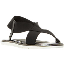 Buy Dune Linke Elastic Cross Strap Sandals, Black Online at johnlewis.com