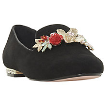 Buy Dune Galleria Embellished Loafers, Black Online at johnlewis.com