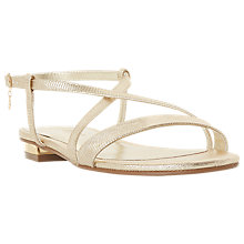 Buy Dune Wide Fit Nenna Cross Strap Sandals Online at johnlewis.com