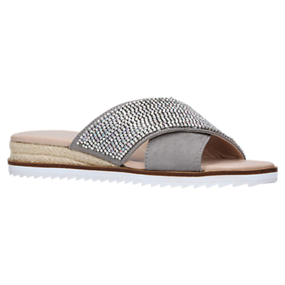 Carvela Birch Embellished Slip-On Sandals, Grey