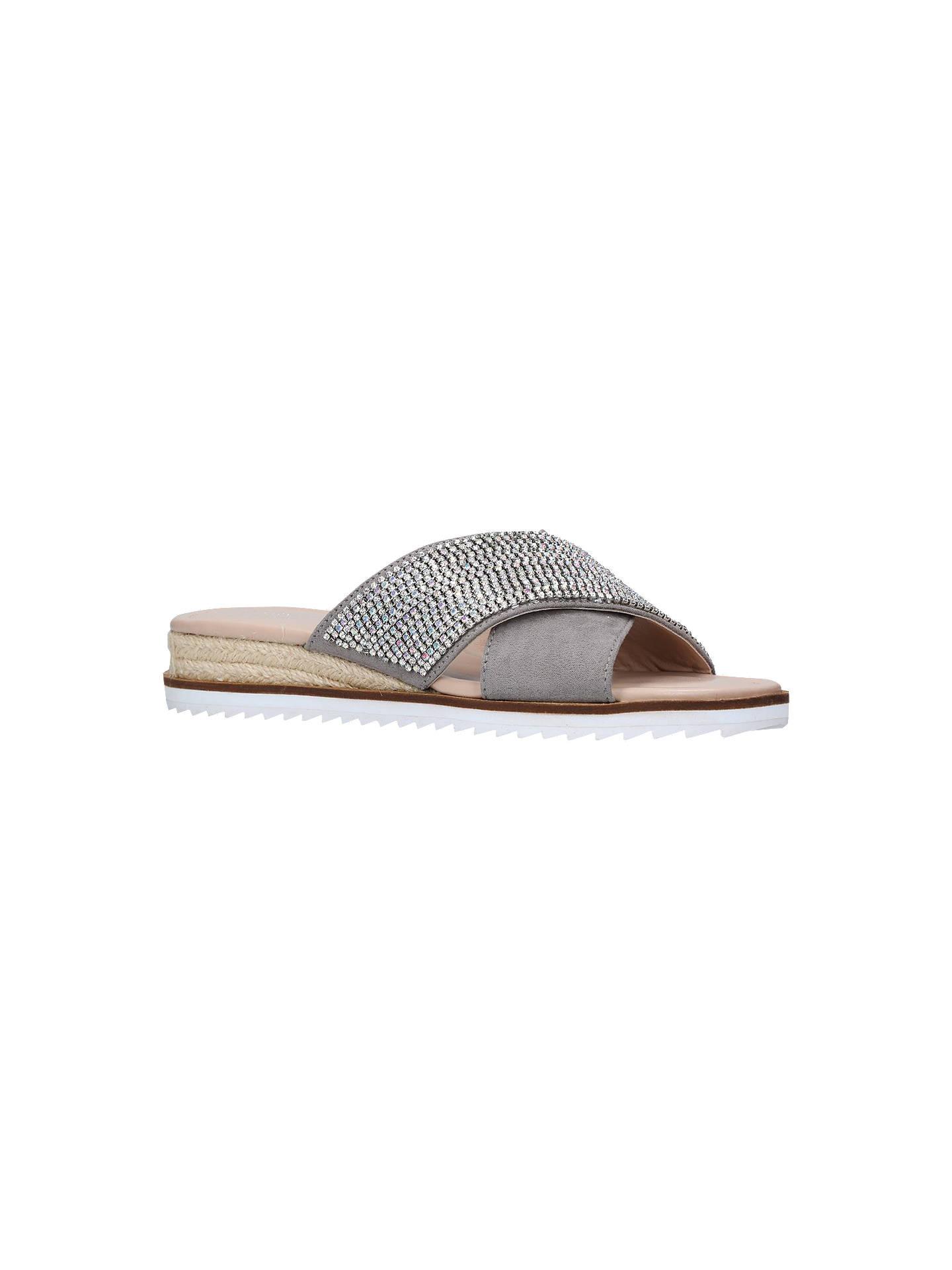 7a3799b27 Buy Carvela Birch Embellished Slip-On Sandals, Grey, 3 Online at johnlewis.