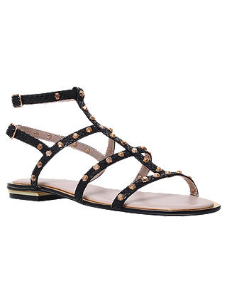 Buy Carvela Banker Stud Embellished Sandals, Black, 3 Online at johnlewis.com