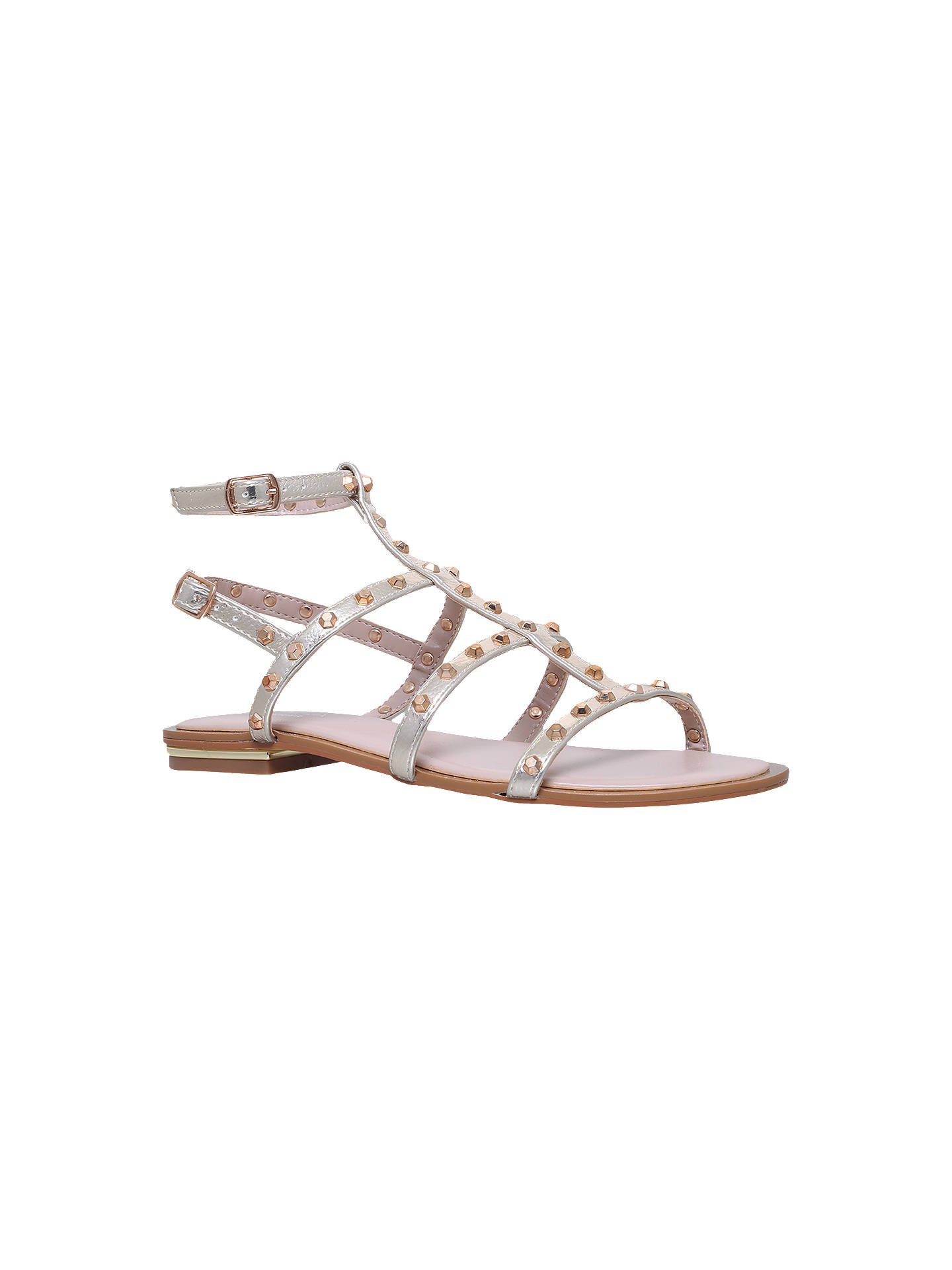 BuyCarvela Banker Stud Embellished Sandals, Gold, 3 Online at johnlewis.com