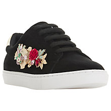 Buy Dune Elvaro Embellished Lace Up Trainers, Black Online at johnlewis.com