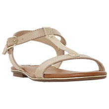 Buy Dune Ladder T-Bar Sandals, Nude Online at johnlewis.com