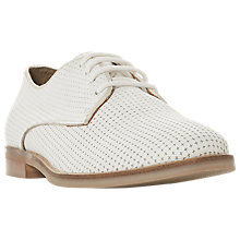 Buy Dune Fexton Lace Up Brogues, White Leather Online at johnlewis.com