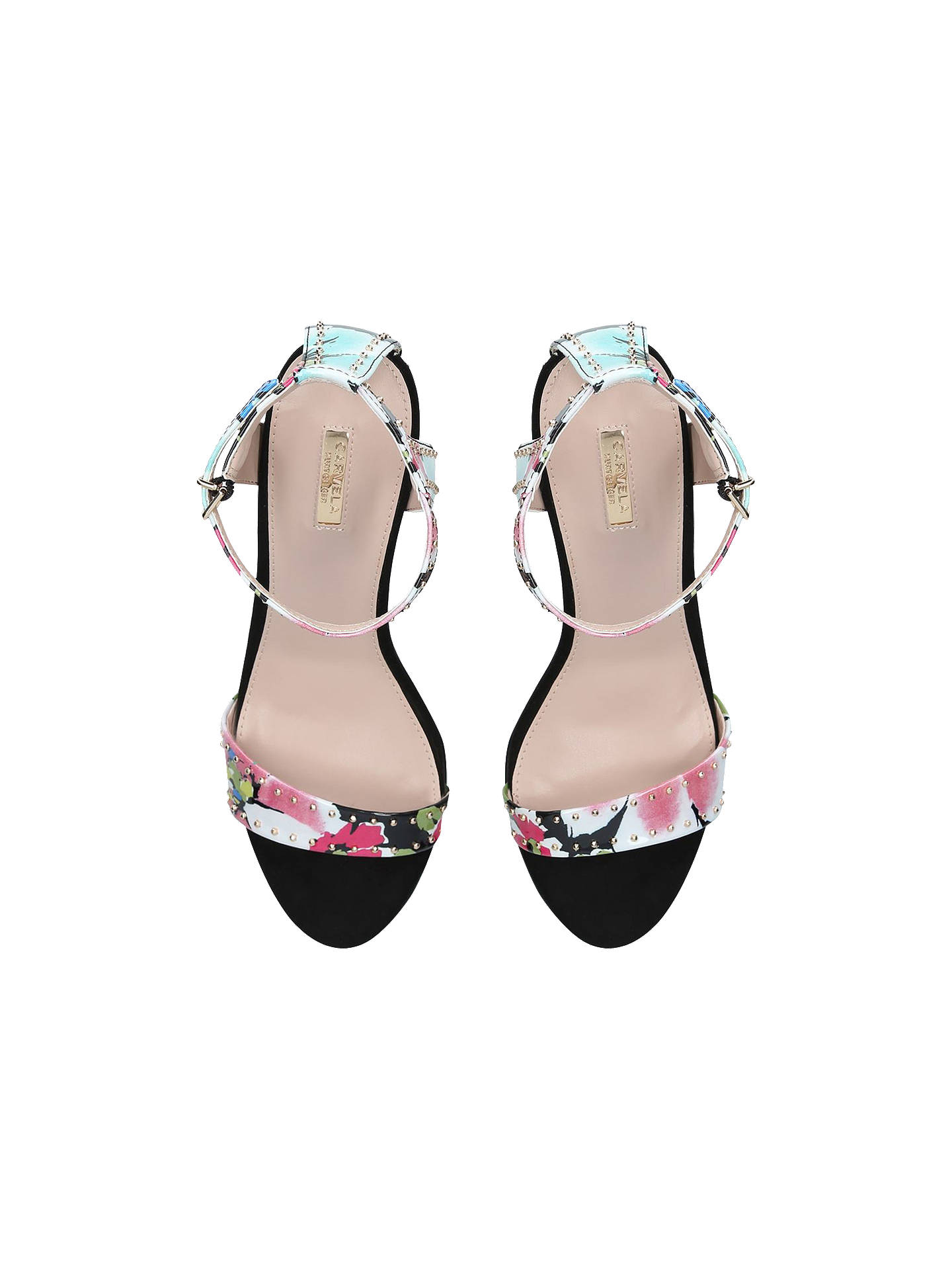 Buy Carvela Gogo Studded Block Heel Sandals , Upper: Synthetic, Lining: Synthetic, Sole: Synthetic, 3 Online at johnlewis.com
