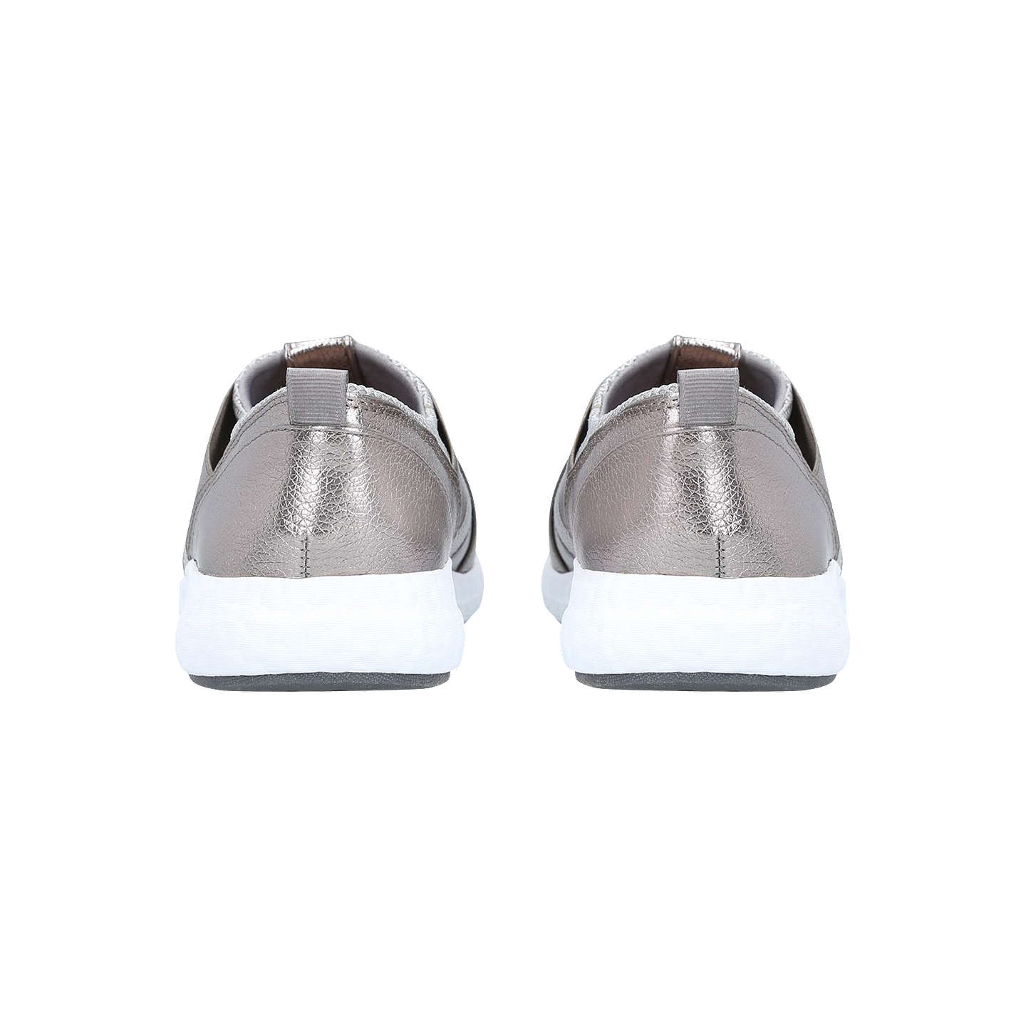 BuyCarvela Java Cross Strap Slip On Trainers, Pewter, 3 Online at johnlewis.com