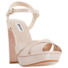 Buy Dune Maggie Platform Block Heeled Sandals, Blush Online at johnlewis.com