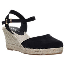 Buy Carvela Sabrina 2  Wedge Sandals, Black Suedette Online at johnlewis.com