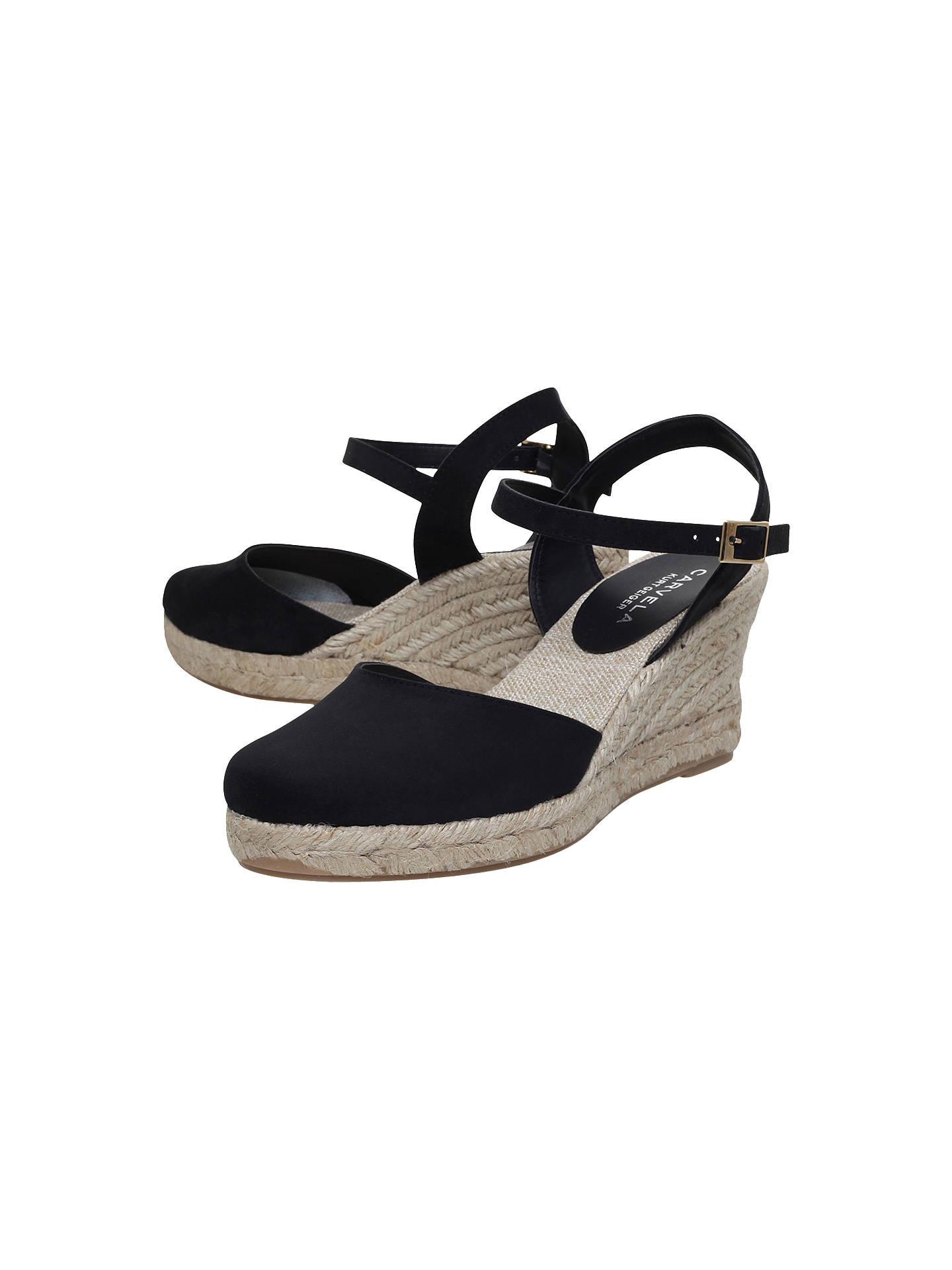 a500421dd5a Carvela Sabrina 2 Wedge Sandals, Black at John Lewis & Partners
