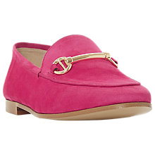 Buy Dune Guilt Suede Loafers, Pink Online at johnlewis.com