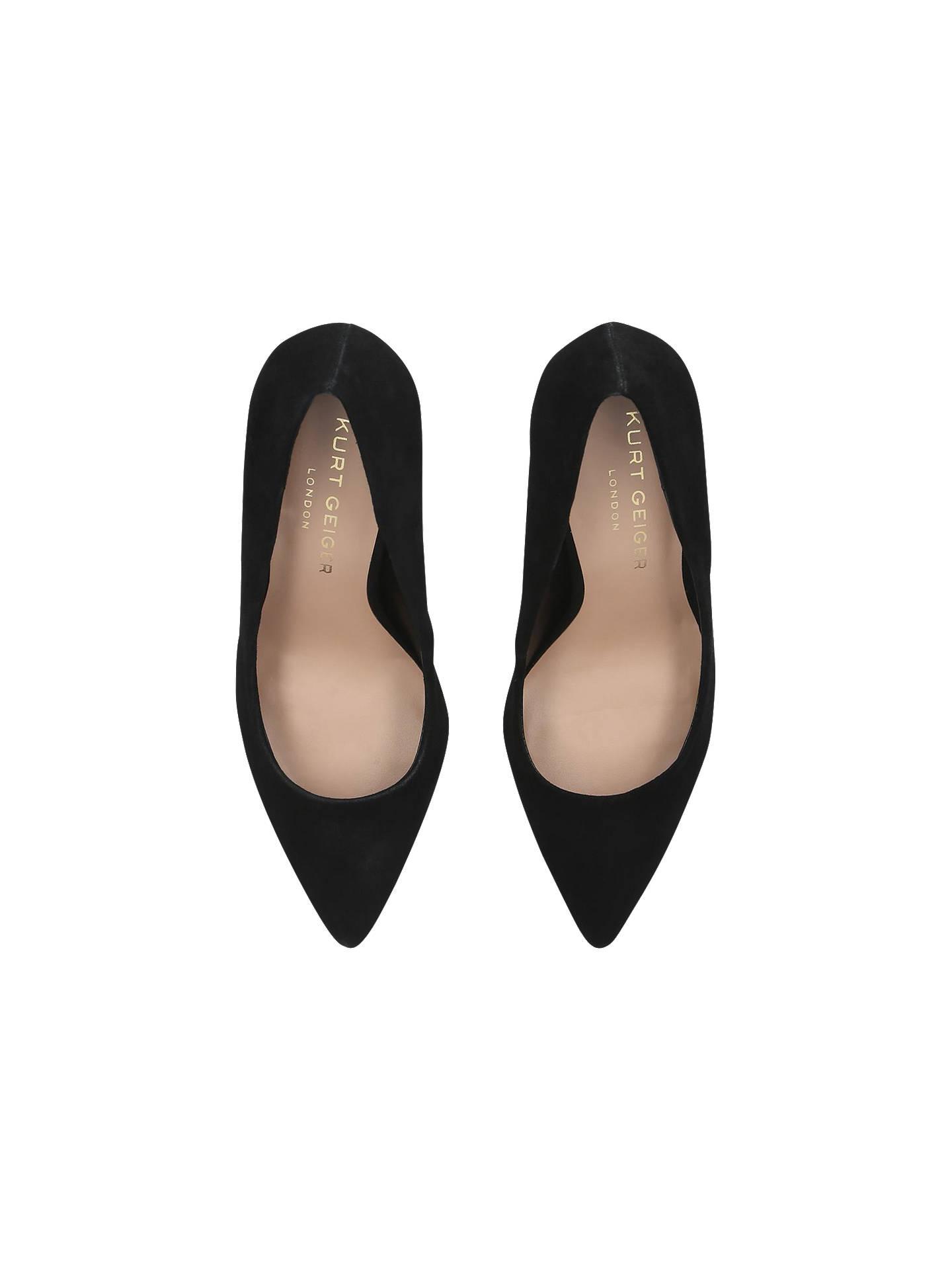 84b3629e14 ... Buy Kurt Geiger London Audley High Heel Court Shoes, Black Suede, 3  Online at ...