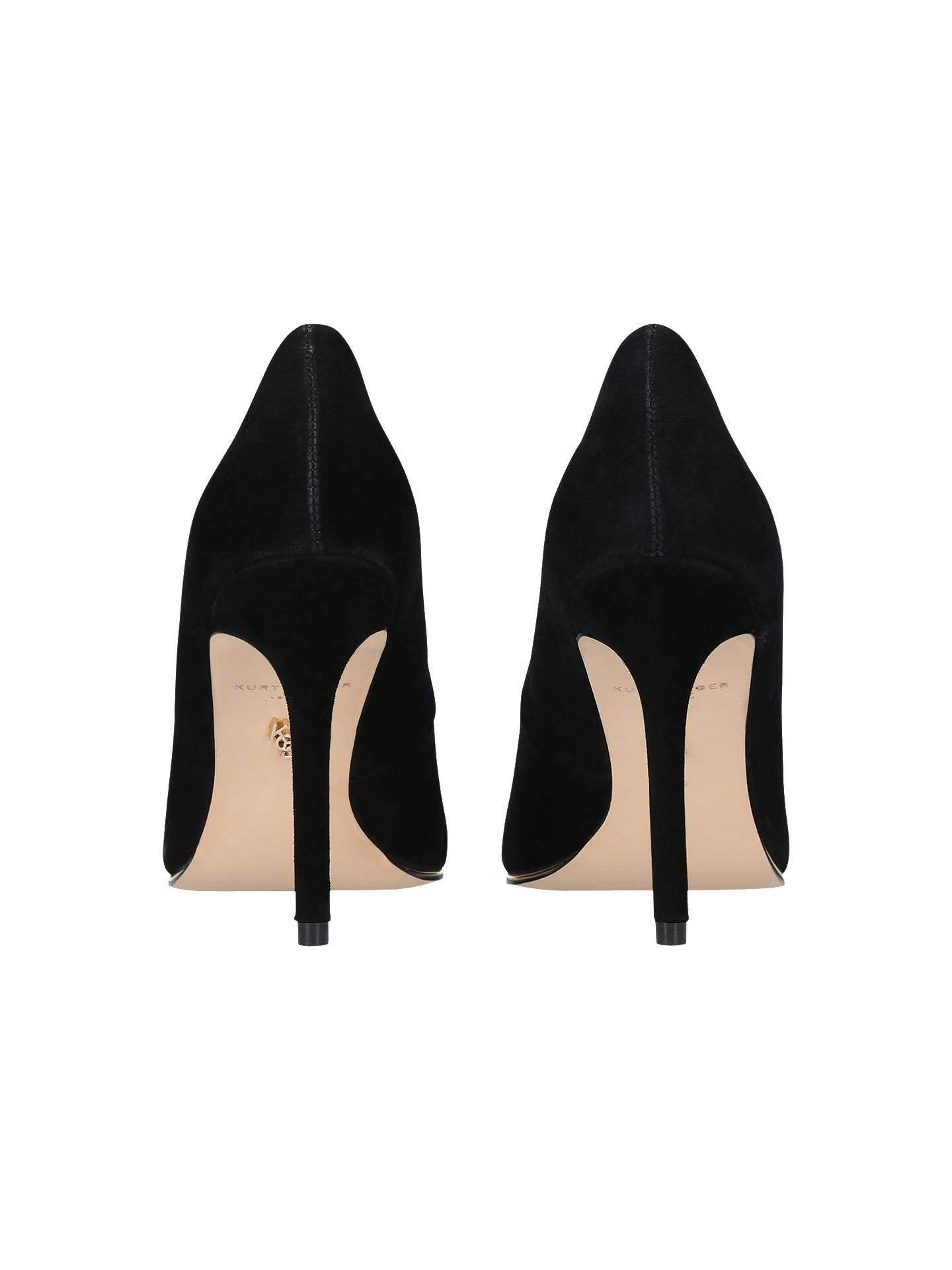 f77a1dd606 ... Buy Kurt Geiger London Audley High Heel Court Shoes, Black Suede, 3  Online at