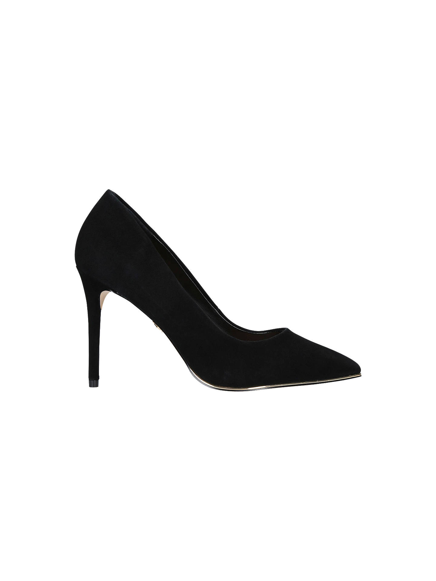 dc5b71d674 Buy Kurt Geiger London Audley High Heel Court Shoes, Black Suede, 3 Online  at ...