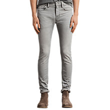 Buy AllSaints Ghoul Cigarette Skinny Fit Jeans, Grey Online at johnlewis.com