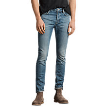 Buy AllSaints Ione Cigarette Skinny Fit Jeans, Indigo Online at johnlewis.com