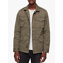 Buy AllSaints Cote Military Jacket, Dusty Olive Online at johnlewis.com