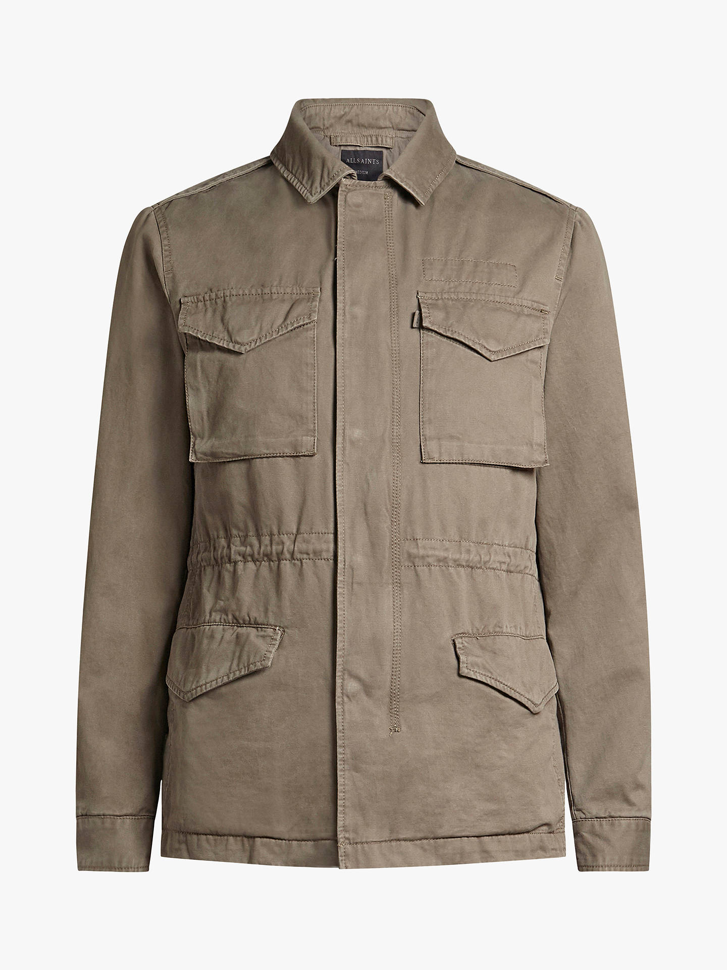 Buy AllSaints Cote Military Jacket, Dusty Olive, XS Online at johnlewis.com