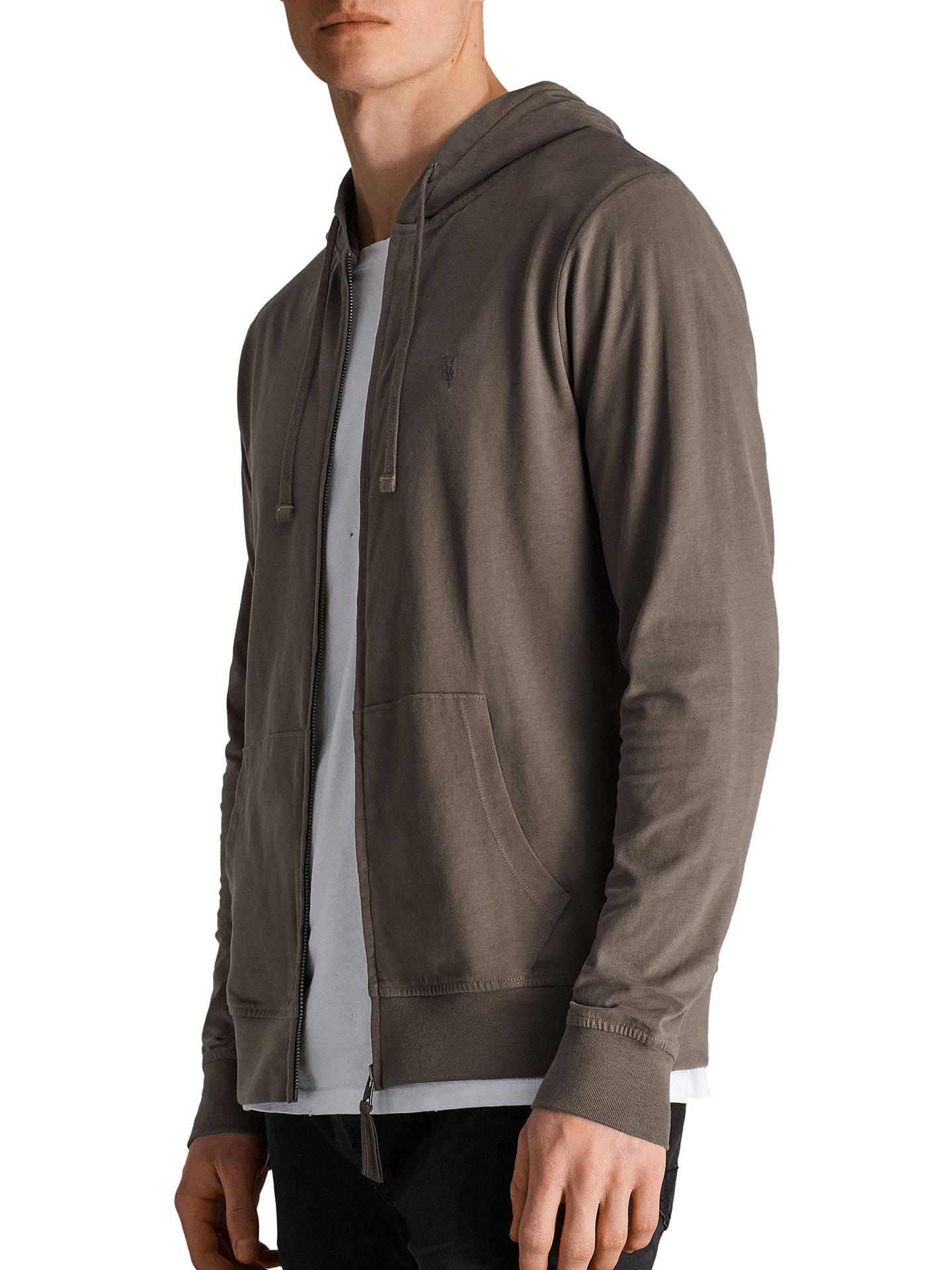 Allsaints Brace Full Zip Hoodie Olive Green At John Lewis Partners Tendencies Sweater Hoody Zipper S Buyallsaints Xs Online