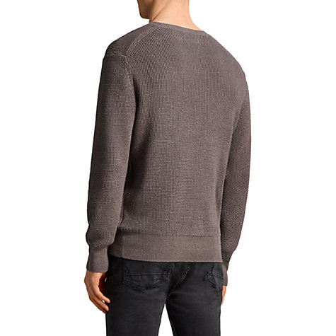 Buy AllSaints Mert Waffle Crew Neck Jumper Online at johnlewis.com