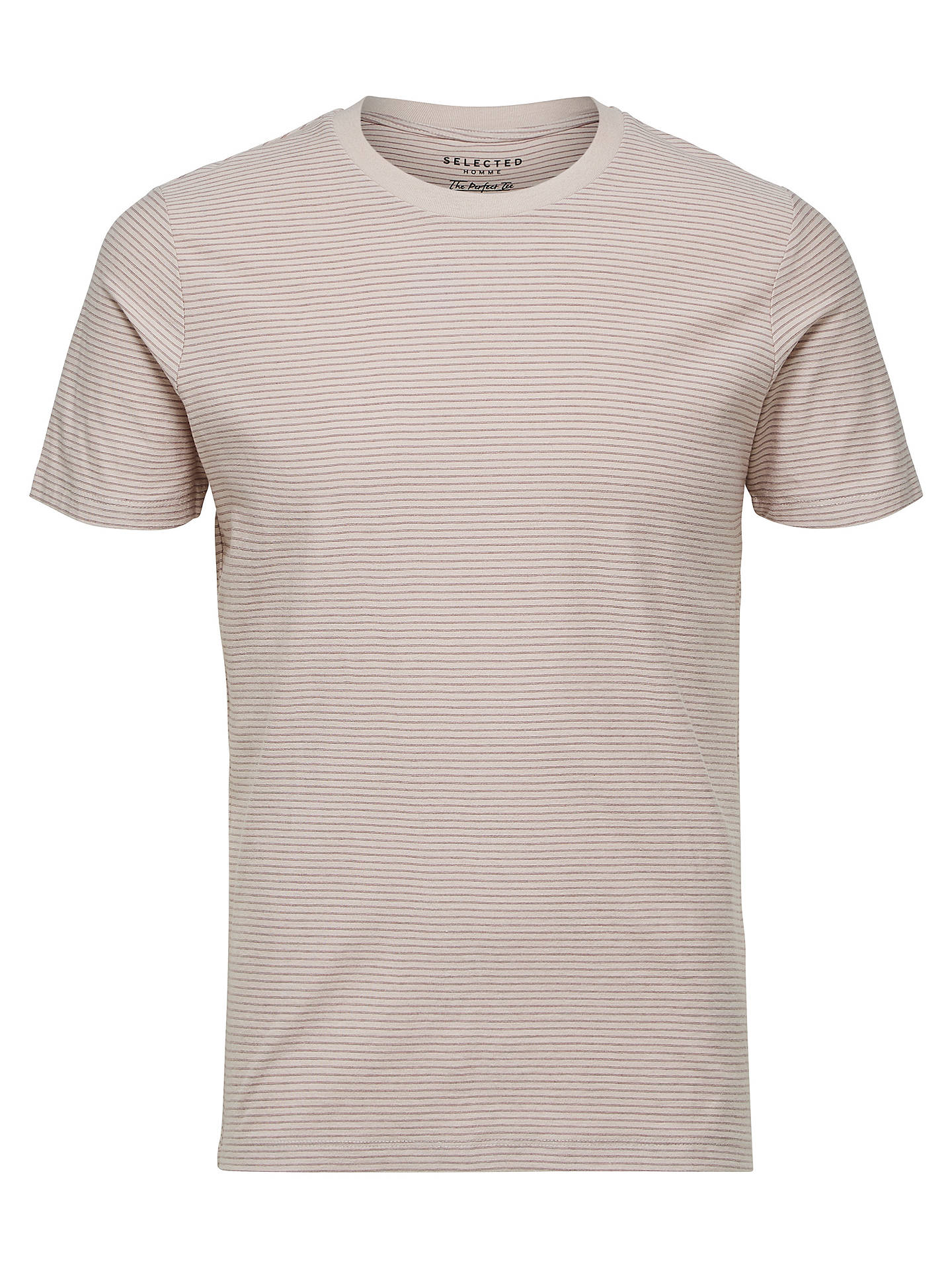BuySelected Homme 'The Perfect Tee' Pima Cotton T-Shirt, Rose Brown, S Online at johnlewis.com
